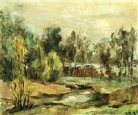 yarkon river by aharon avni