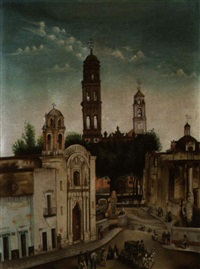 a view of a mexican village square by mexican school (20)