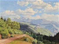 view of the mountains by james emery greer