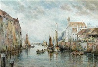 a dutch canal by charles frederick allbon
