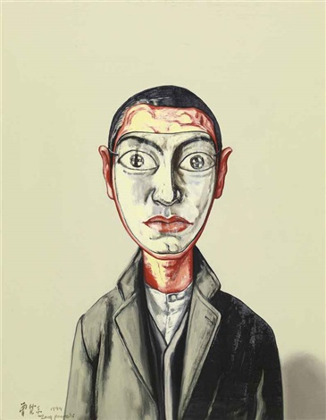mask series by zeng fanzhi
