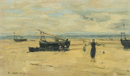 berck, plages échouées by eugène boudin