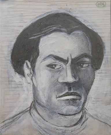a mans portrait by alexander arefiev