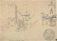 nürnberg: der heidenturm auf der kaiserburg by heinrich reinhold