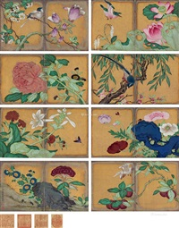 花卉 (album of 8) by jiang tingxi