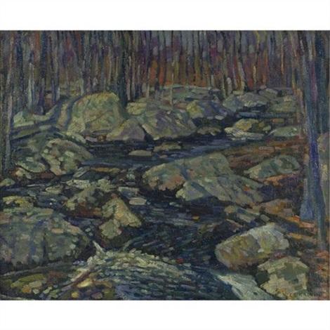 woodland stream by charles salis kaelin