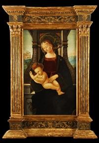 virgen con el niño by raffaelino del garbo