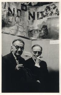 portrait de man ray et marcel duchamp by pablo volta