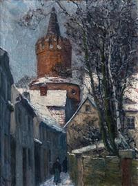 tower in prenzlau by carl hessmert