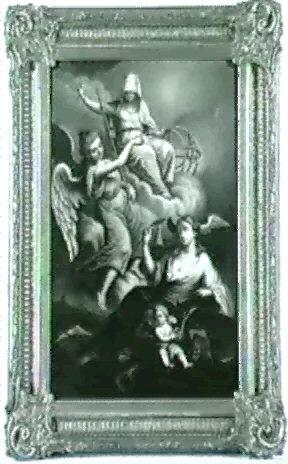 allegorie der dichtkunst die als weibliche figur unten neben einem putto sitzt uber ihr die personifikation by n augner