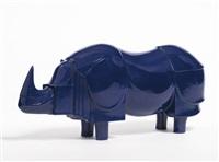 rhinocéros bleu by françois-xavier lalanne