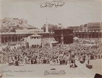 la mecque. pèlerins devant la kaaba by christian snouck hurgronje and abd al- ghaffar