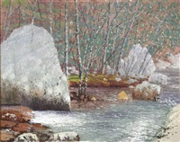 west virginia landscape with stream in winter by james vance miller