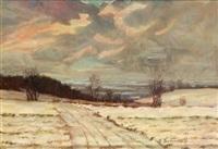 winter auf dem weyerberg by heinz dodenhoff