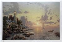 the sea of tranquility by thomas kinkade