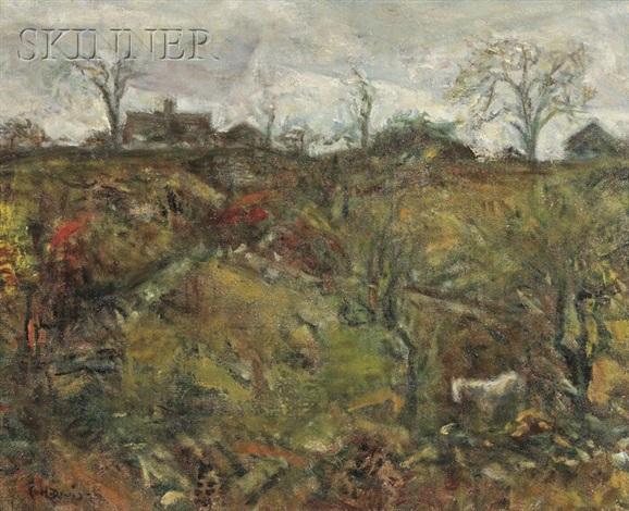 autumn hillside by charles harold davis