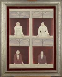 personnages à la fenêtre by mirelle bastin