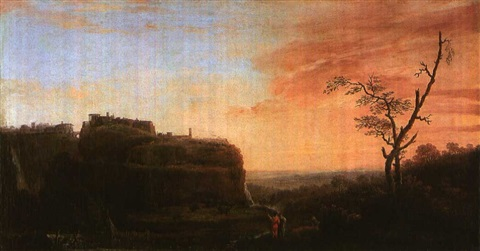 landscape in italy by washington allston