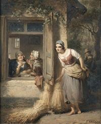 die lauscherin by françois verheyden