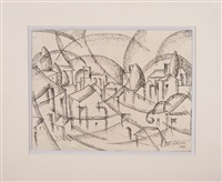 village cubiste by albert gleizes