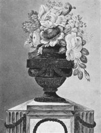 blumenstrauß in einer empire-vase by ludwig pfleger
