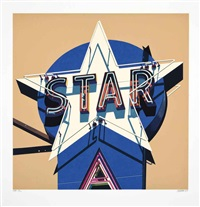 star (from american signs) by robert cottingham