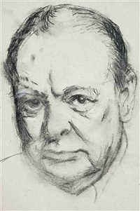 portrait of sir winston churchill by robert sargent austin
