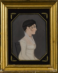 pennsylvania portraits of a husband and wife (pair) by american school (19)