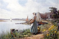 waiting for the ferry by william f. ashburner