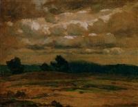 dünenlandschaft unter cumuluswolken by hugo zieger