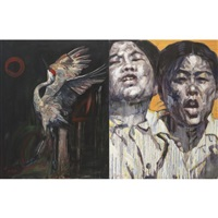 tis the final conflict no.2 (diptych) by hung liu