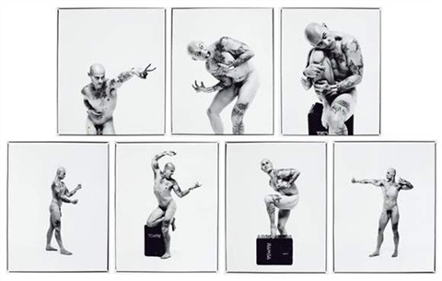 anatomie artistique de lhomme portfolio of 7 lithograph by jean luc verna