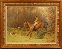 horse & rider by cuthbert edmund swan