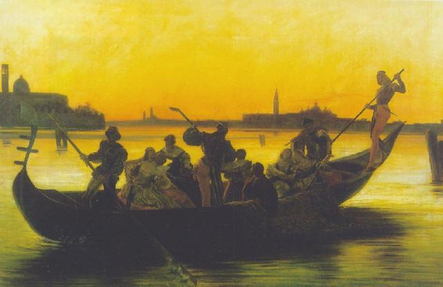 convegno galante in gondola by federico faruffini