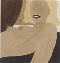 study for great american nude #59 by tom wesselmann