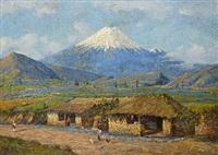 der vulkan cotopaxi in ecuador by e moncazin