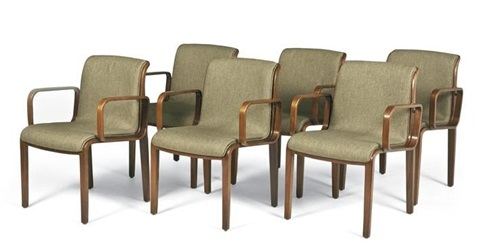 armchairs model 1305u set of 6 by bill stephens