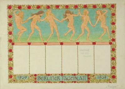 sommerreigen design for berliner tageblatt by hugo hoppener fidus