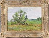 landschaft mit bäumen by aleksandr andreievich gusarevich