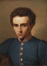 bildnis eines jungen mannes in uniform by heinrich maria von hess
