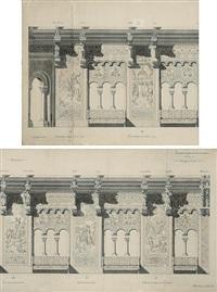 dekorationsentwurf mit szenen aus parzifals leben für den sängersaal des schlosses neuschwanstein (collab. w/julius hofmann) by august spiess