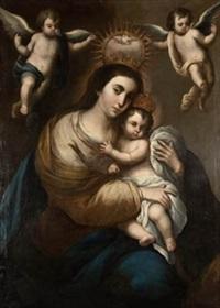 virgen con niño by juan garzon