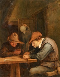 interieur mit tabakschneider by jan steen