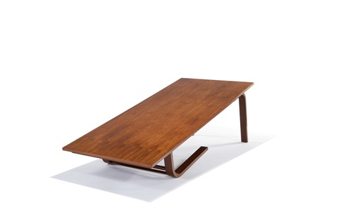 camel table from moore house ojai by richard neutra