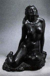 seated nude woman by stuart benson
