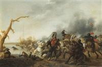 scène de bataille by palamedes palamedesz the elder