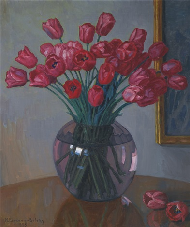 still life with tulips by nikolai petrovich bogdanov belsky