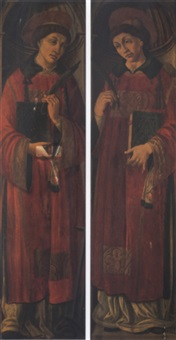 saint stephen and saint lawrence by giovanni di piamonte