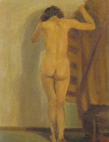 stehender weiblicher rückenakt by joseph marlin tilleux