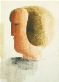kopf nach links (head to the left) by oskar schlemmer